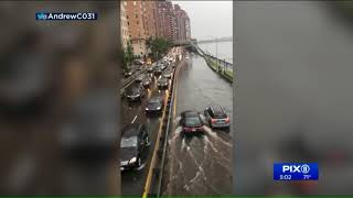 Delays in NYC after severe thunderstorms and flooding