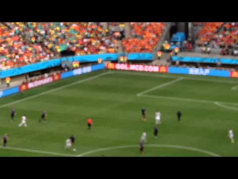 Brazil World Cup 2014-Spain-Holland 1-5-Diego Costa properly welcomed by the Brazilian fans
