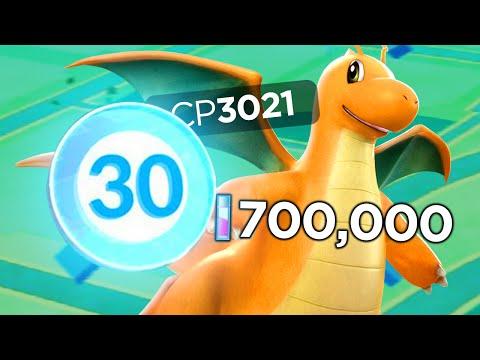 Pokemon GO - LEVEL 30 ACCOUNT WITH 700.000 STARDUST AND 3021 DRAGONITE! (Pokemon GO Gameplay)