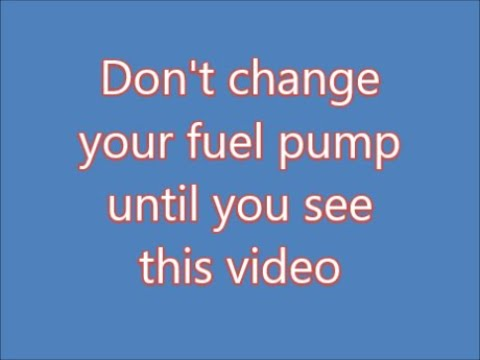 how to make a bad fuel pump work - part 1