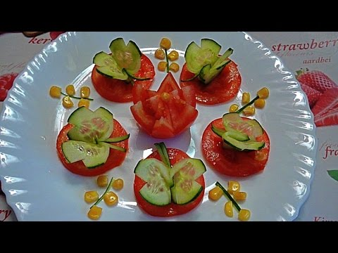 Бабочка из огурца! Butterfly cucumber! №2 Украшения из огурца. Decoration of cucumber!