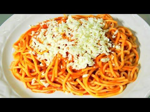 Como hacer Espagueti - Spaguetti Rojo - Receta Facil y Rapida