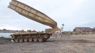 Amazing Tank Launched Bridge - M60 Armoured Vehicle-Launched Bridge (AVLB) in Action