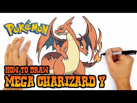 how to draw mega charizard