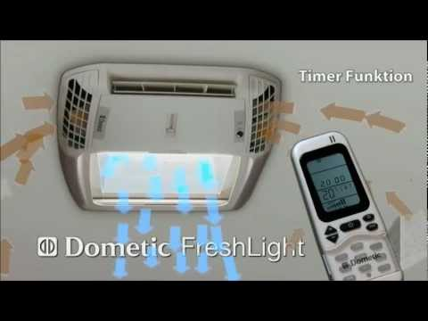 Dometic FreshLight Sky Light and Air Conditioner Unit.