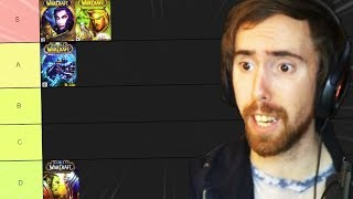 Asmongold Ranks All WoW Expansions & Raids (Tier List)