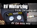 Tips for RV winterizing with compressed air - RV maintenance the easy way