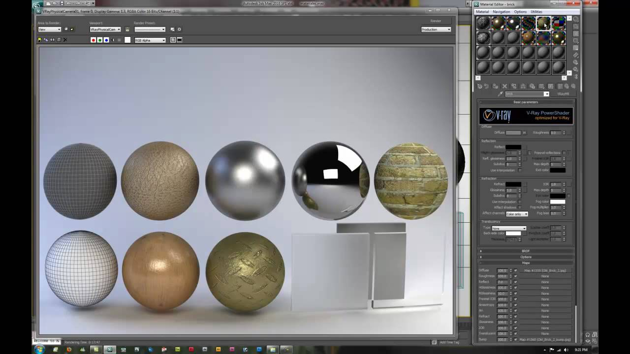Creando Materiales Basicos Vray Tutorial 1 2 Youtube