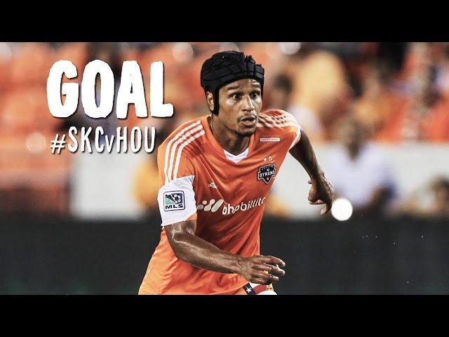 GOAL: Ricardo Clark grazes a header into the bottom corner   Sporting KC vs. Houston Dynamo