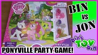 Bin Vs. Jon - My Little Pony Ponyville Party Board Game! | Bin's Toy Bin
