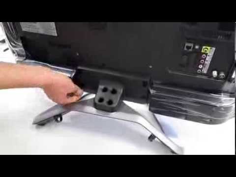 lg smart tv 32la6608   mount the tv stand montage