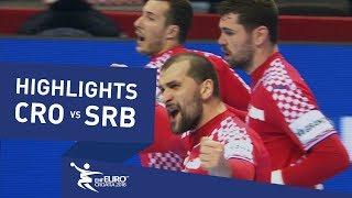 Highlights   Croatia vs Serbia   Men's EHF EURO 2018
