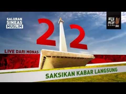 Video LIVE STREAMING AKSI SUPER DAMAI 212 | Sineas Muslim Bersatu