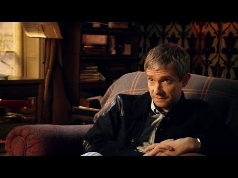 Martin Freeman & Amanda Abbington discuss working together - Sherlock: Series 3 Episode 2 - BBC One