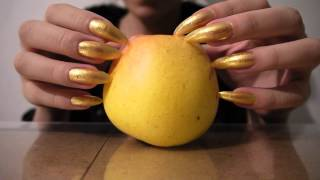 ASMR : Long natural nails tapping and scratching  apple PT 2 HD