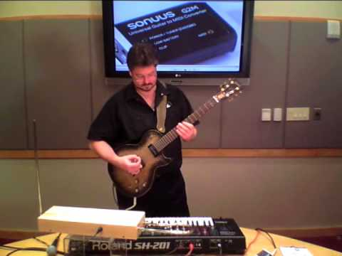 Sonuus G2M (Guitar to MIDI Converter) Demo with Theremin, Mic, and Guitar - Sweetwater