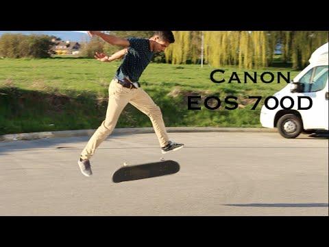 Canon EOS 700D Skateboarding Video Test