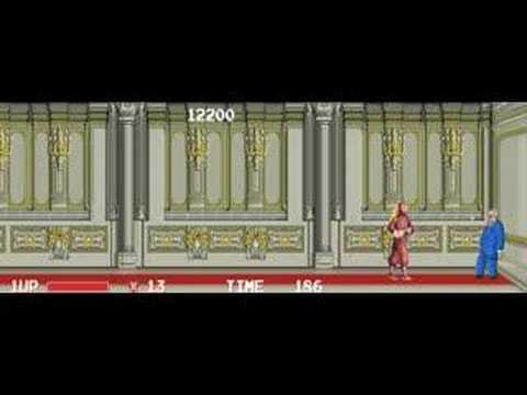 The Ninja Warriors arcade gameplay and ending