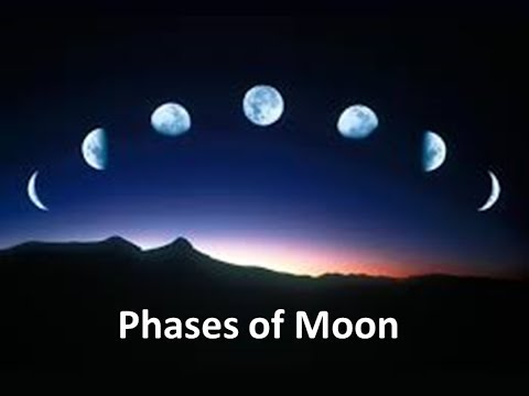 phases of the moon explanation for kids  animation lesson