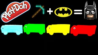 BATMAN + MINECRAFT = Play Doh Surprise Eggs Trucks! – Frozen Batman Minecraft Disney M.U.