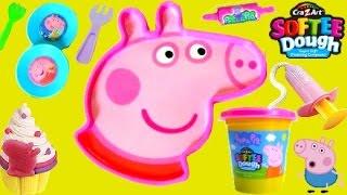 TOYSBR Softee Dough Peppa Pig Mold N Play 3D Giant Head   Faça a Cabeça da Peppa Pig com Play-Doh