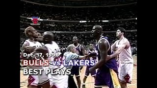 December 17, 1996 Bulls vs Lakers highlights