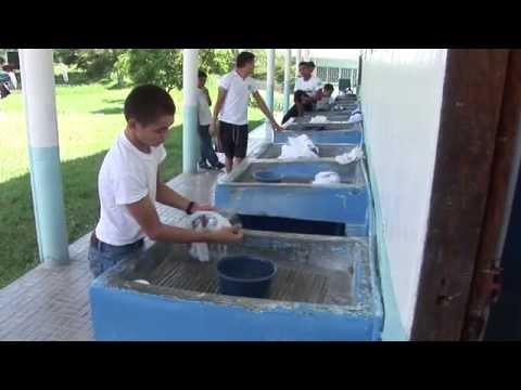 Students Washing Their Clothes in Honduras