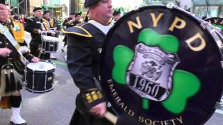 St. Patrick's Day Parade~NYC~2016~NYPD Emerald Society Pipes & Drum Band ~NYCParadelife