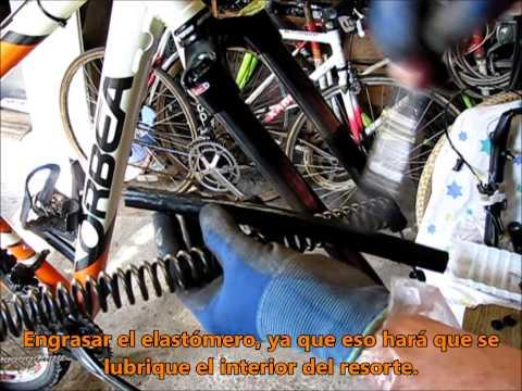 BRICO BIKE - Como hacer el mantenimiento de una horquilla de bicicleta del tipo SR Suntour XCR.