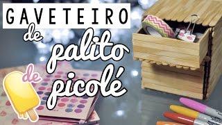 DIY :: Gaveteiro Organizador de Palitos de Picolé