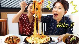 KEJU TERJUN!! Cheese buldak Korea terpedas!