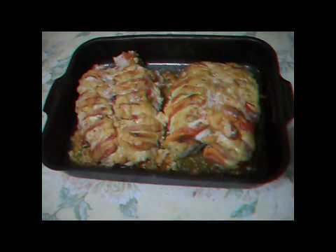 куриная грудка запеченая с томатами и сыром