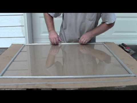 Replacing Storm Window Glass
