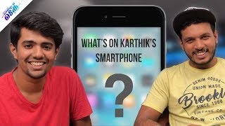 What's on Karthik Surya's Smartphone? - Malayalam Tech Video