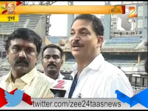 ZEE24TAAS : Mumbai Swach Bharat Campaign At Wankhade Stadium By Rajiv Pratap Rudy 121