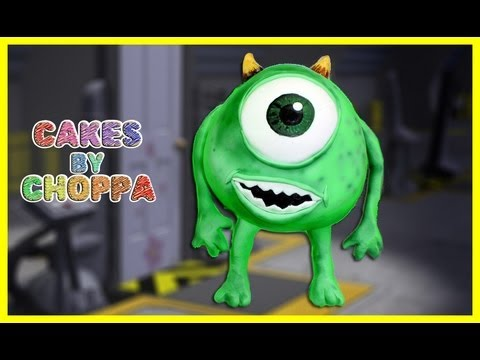 Monsters Inc. 3D Cake (How To) Mike Wazowski