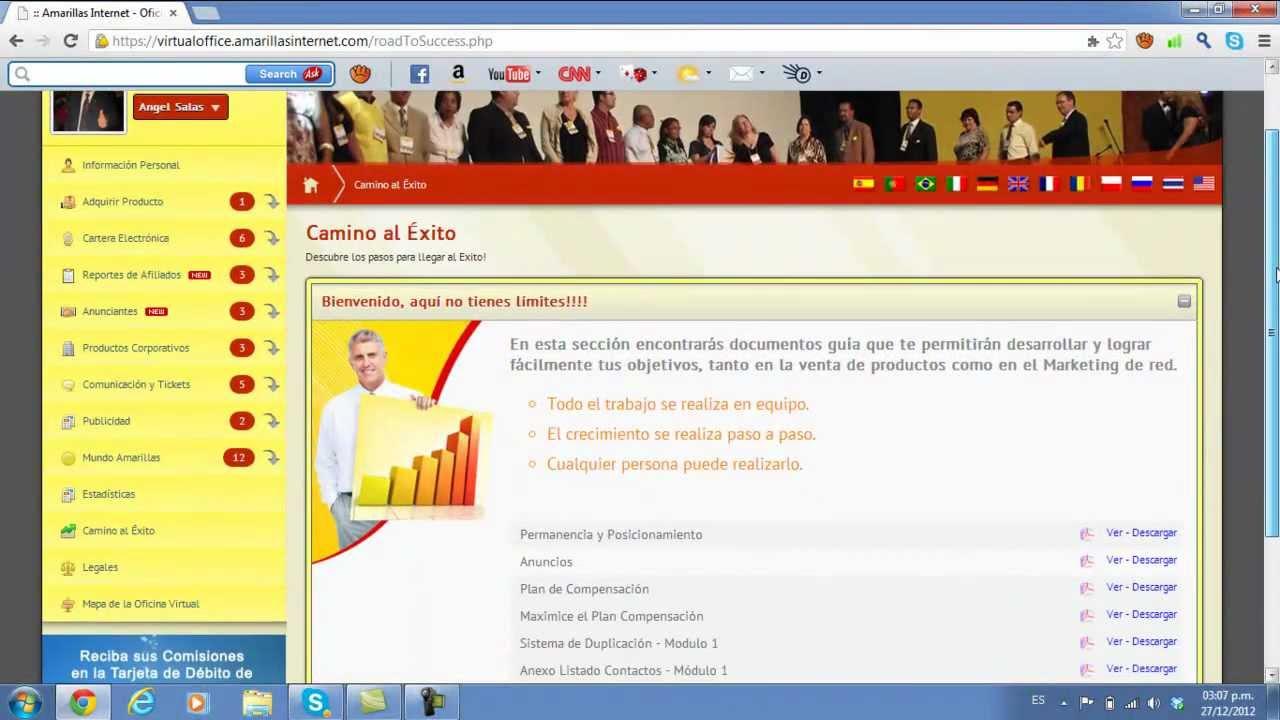 Manejo oficina virtual amarillas internet angel salas for Oficina virtual internet