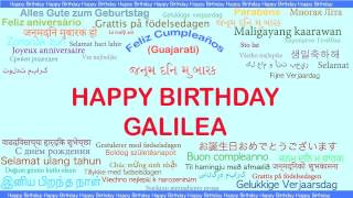 Galilea   Languages Idiomas - Happy Birthday