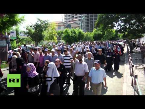 State of Palestine: 13,000 UNRWA workers march through Gaza while on strike