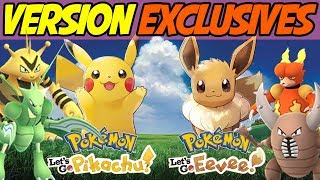 Version Exclusives for Pokemon Let's Go Pikachu! Pokemon Let's Go Eevee! Discussion and Theory!