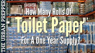 Toilet Paper: How Many Rolls For A One Year Supply?