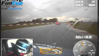 How not to overtake! Snetterton 12hr Team Racelogic fail