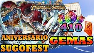 ANIVERSARIO SUGOFEST! Parte 1 410 Gemas | One Piece Treasure Cruise (GLOBAL)