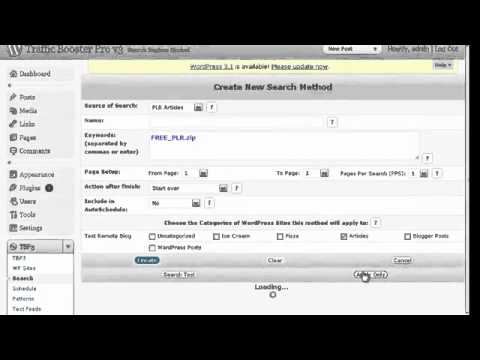 Использование  PLR статей с Traffic Booster Pro v3.mp4