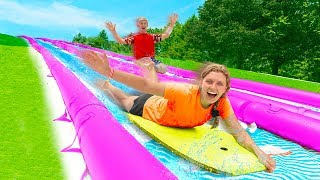 Worlds Biggest BackYard Slip N Slide Challenge!! (Winner Gets $10,000)