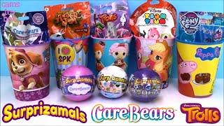 Surprizamals Care Bears Surprise Toys Blind Bags Opening Animal Jam Trolls Holiday Fun Kids
