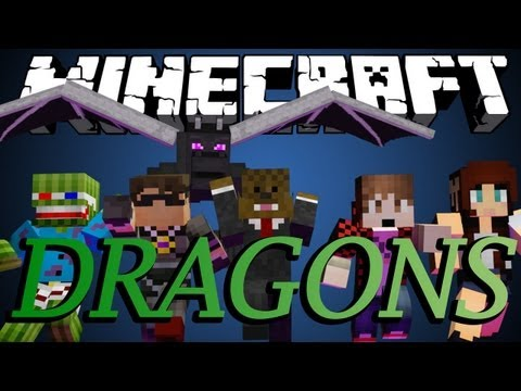 Minecraft ENDER DRAGON DESTRUCTION Minigame w SkyDoesMinecraft BajanCanadian and friends