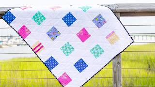 Easy Charm Square Baby Quilt Pattern and Tutorial