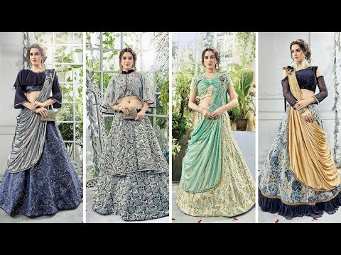 Latest new style Indo Western lehenga design/Simple crop top lehenga design ideas !!! trending now