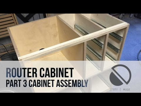 003 - Router Table build - Part 3 - Carcass - Router Cabinet